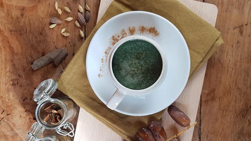 Recette ginger latte spiral flow