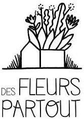 Logo Des Fleurs Partout, culture de fleurs biologique