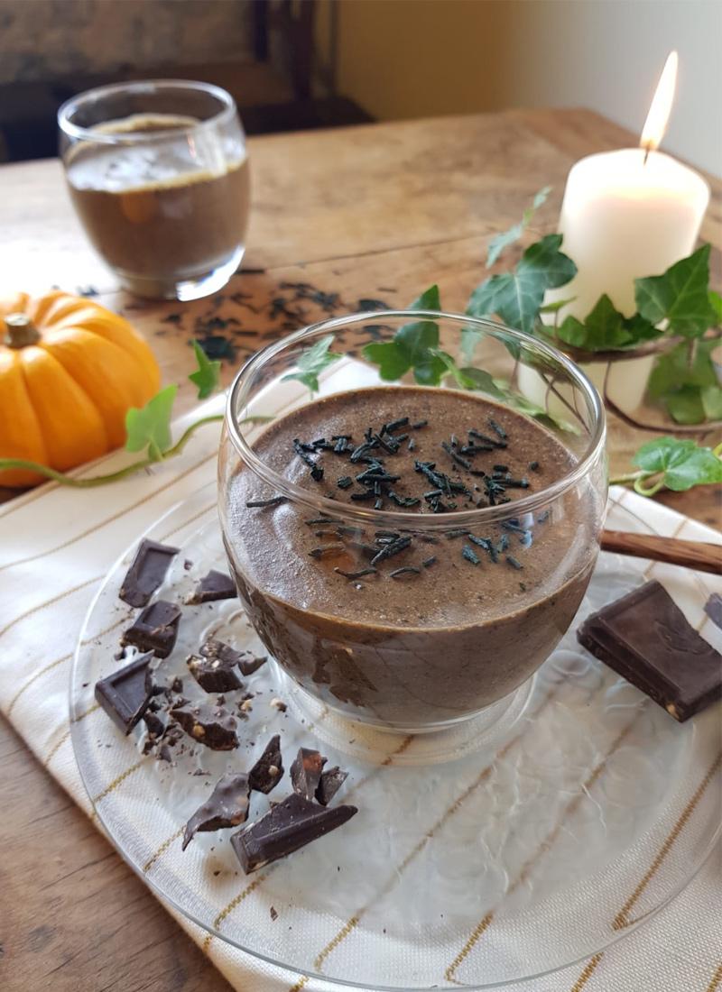 Mousse au chocolat poudre et spiruline