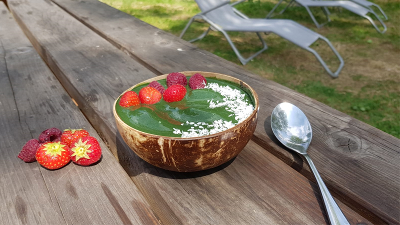 Nice cream spiruline fruits rouges