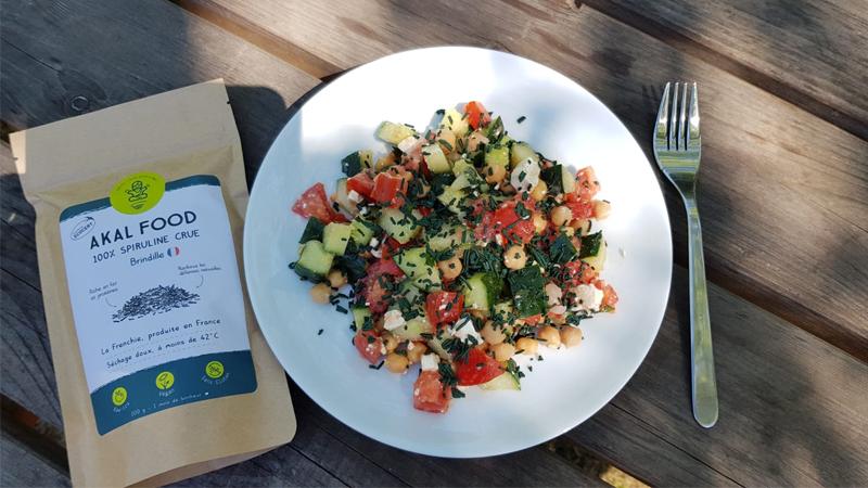 Salade grecque brindille spiruline été