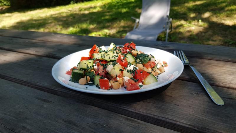 Salade grecque spiruline brindille